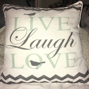 Other - Love laugh love pillow